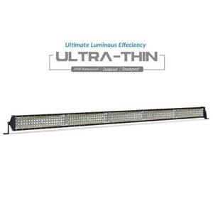 52 Led Light Bar Spot Flood Combo Beam Work For Jeep Offroad Suv