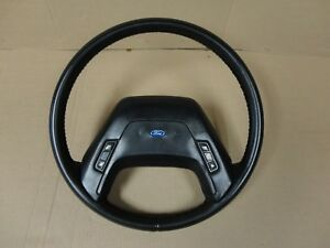 87 91 Ford F350 Pickup Truck Bronco Factory Leather Steering Wheel Xlt Lariat