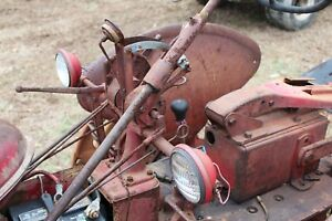 Antique Tractor International Farmall Super C Steering Tower Lights And Lever