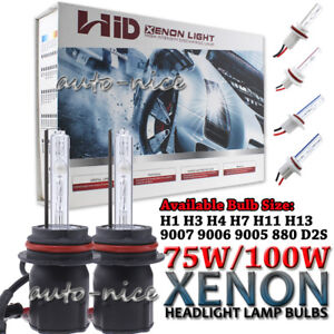 Ac 75w 100w Xenon Hid Light Bulbs H1 H3 H4 H7 H10 H11 H13 9004 9005 9006 9007
