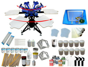 6 Color Screen Printing Kit With All Printing Tools Ink Consumables Package