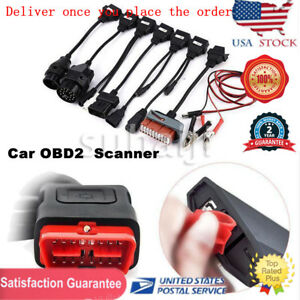 Diagnostic Tool Scanner Kits Vci Obd2 Ds Cars Trucks Cd Software 8pcs Car Cables