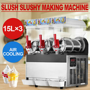 3 Tanks 45l Commercial Frozen Drink Slush Slushy Machine Smoothie Maker