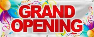 Wall26 Grand Opening Banner Sign Store Signs Flag 24x60