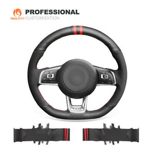 Top Custom Hand Stitched Steering Wheel Cover For Vw Golf 7 Gti Golf R Mk7 Polo