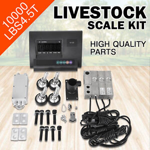 10000lbs Livestock Scale Kit For Animals Indicator Load Cells Animal Weighing