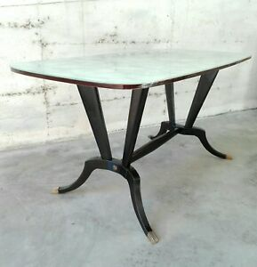 Mid Century By Vittorio Dassi Ico Parisi Dining Room Table 6 Chairs Italy 50s