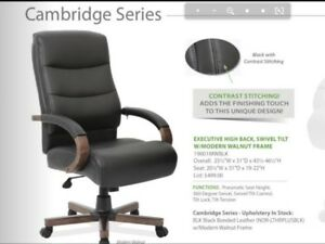 Office Source Cambridge Series High Back Swivel Tilt Office Chair 19001mwblk