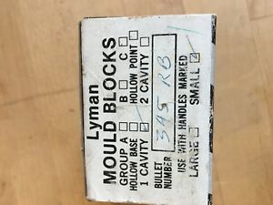 LYMAN MOULD BLOCKS 345 RB ROUND BALL 1 CAVITY SMALL FROM RETIRED GUNSMITH