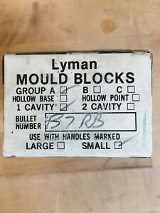 LYMAN MOULD BLOCKS 437 RB ROUND BALL 1 CAVITY SMALL FROM RETIRED GUNSMITH