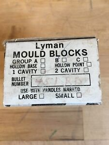 LYMAN MOULD BLOCKS 451 RB ROUND BALL 1 CAVITY SMALL FROM RETIRED GUNSMITH