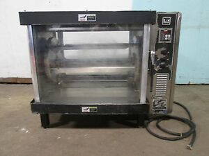 b K I Heavy Duty Commercial Counter Top Electric Rib Chicken Rotisserie Oven