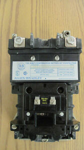 Used Allen Bradley 100 Amp Continuous Rating Ac Contactor 500l dod92