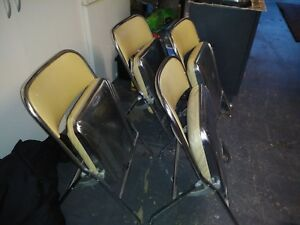 Vintage Heywood Wakefield Chairs 5pcs Beige
