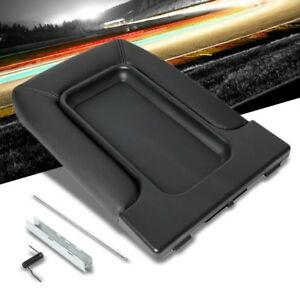 Black Center Console Tray Lid Arm Rest Latch Replacement Kit For 01 07 Silverado