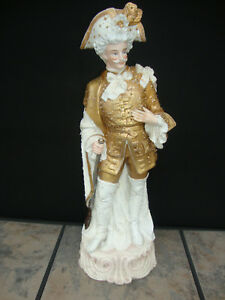 Monumental Large French Porcelain Figurine 21 Gilded