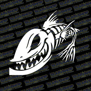 Fish Sticker Bone Fish Decal V3 Truck Car Window Boat Fishing Kayak