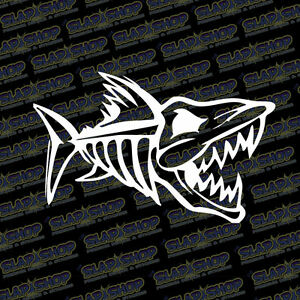Bone Fish Decal Sticker Truck Car Window Boat Fishing Kayak 11 Color Options