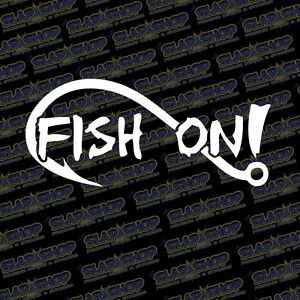Fish On Fish Sticker Fish Decal Truck Car Window Boat Fishing Kayak