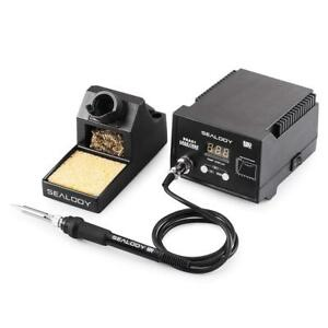 Digital Soldering Station Soldering Iron Pure Aluminum Stand Cleaning Wire Set