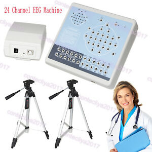 Us Digital 24 Channel Eeg mapping System Machine Kt88 2400 pc Software 2 Tripods