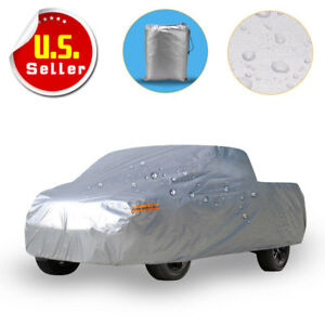 Full Pickup Truck Cover Outdoor Breathable Waterproof Sun Uv Rain Snow Resistant