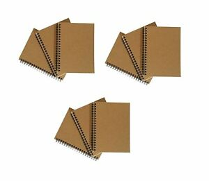 Notepads With Kraft Paper Covers Bulk Buys 9 Notebooks 5 X 7 Inside Pocket