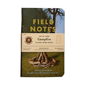 Field Notes Campfire Special Edition Memo Books 3 pack 3 5x5 5 inch Summer