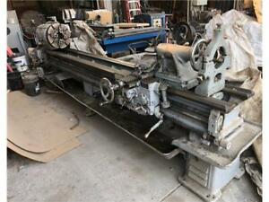 1952 Reed Prentice Model A Engine Lathe Assorted Chucks Steady Rests