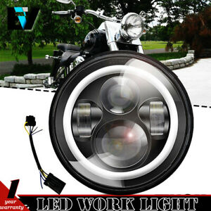 Angel Eye 7 Inch Motorcycle Led Headlight Angel Eye For Harley Davidson Touring