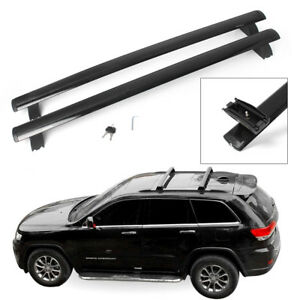 Black Top Roof Rack Cross Bar Cargo Luggage For 2011 2018 Jeep Grand Cherokee