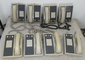 Lot Of 8 Comdial Executech 2000 6701x pg 1 line Proprietary Telephone Phones