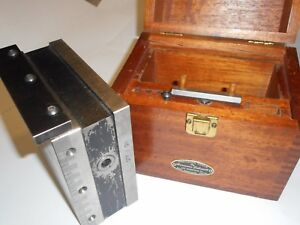 Hermann Schmidt Magnetic Squaring Block With Wood Case