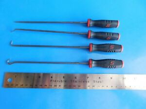 Used Snap on Tools Long Awl 4 Pc Set Part sglasa204r