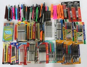 Over 330 Mixed Pens Sharpies Mechanical Pencils Markers Highlighters Mostly New
