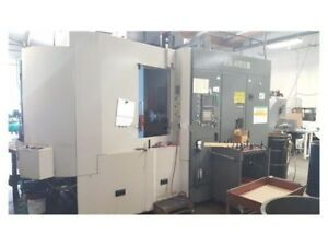 2001 Toyoda Fa450ii Horizontal Machining Center Fanuc 16i m Control Power Runnin