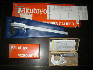 New Lot Of Mitutoyo Tools Vernier Caliper 531 128 Micrometer 101 113