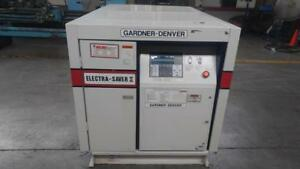 Gardner Denver 50 Hp Screw Air Compressor 230cfm 100 Psi Air Cooled