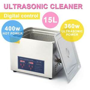15l Ultrasonic Cleaner Jewelry Cleaning Machine Stainless Steel W timer