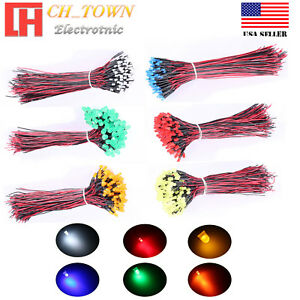 3mm 5mm 8mm 10mm Pre Wired Led Dc 9 12v Volt Diffused Mini Miro Lights Diodes