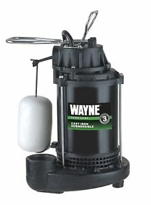 Wayne Cdu800 1 2 Hp Submersible Cast Iron And Steel Sump Pump With Integrated