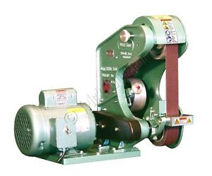 Burr King 482 3 Wheel Grinder 2 X 48 Belt Single Speed 6000 Sfpm 120v