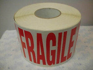 Fragile Stickers Jumbo Size 7 Wide X 5 Tall Self Stick Fragile Label Roll 1000
