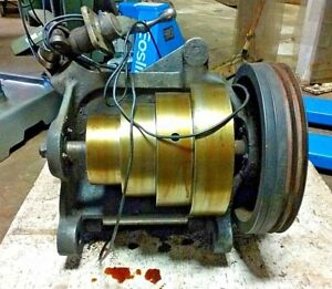 South Bend 16 Lathe 5 Hp Drive Motor And Lower 4 Step Cone Hub Assembly