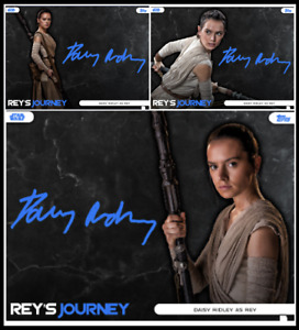 TOPPS STAR WARS CARD TRADER REY'S JOURNEY BLUE SIGNATURE [ 3 CARDS ]
