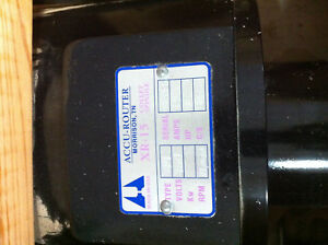 Accu router Xr 15 Collet Spindle Brand New 18 000 Rpm 480v