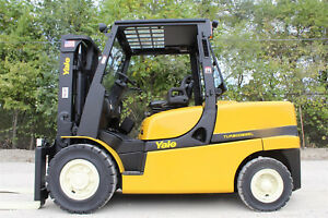 2012 Yale Gdp120vxn 12 000lb Pneumatic Forklift Turbo Diesel Hi Lo Lift Truck