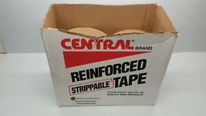Central Brand Uline 3609 Reinforced Tape 6 Rolls Open Box
