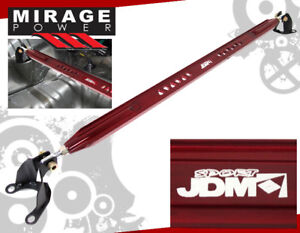 1994 2001 Acura Integra Ls Rs Gs Jdm Sport Rear Upper Strut Tower Brace Bar Red