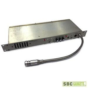 Clearcom Rm120a 2 channel Remote Station Broadcast Intercom Gooseneck Microphone